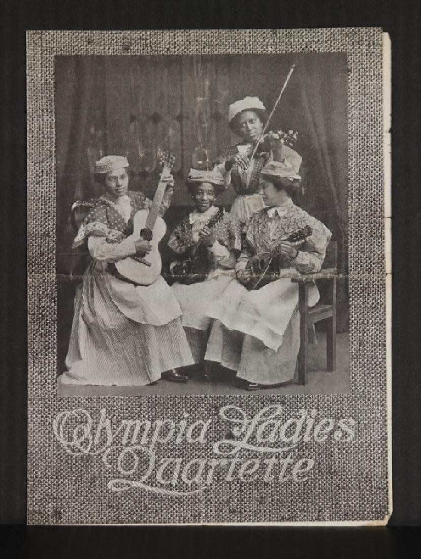 13 items, incl Olympia Ladies Quartette program.