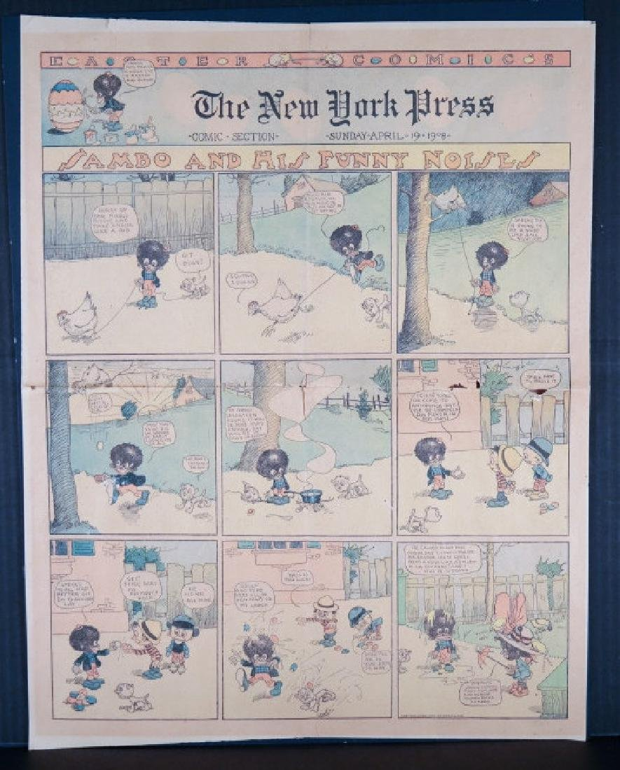 2 Sambo comics, 1908, 1912. Black Americana.