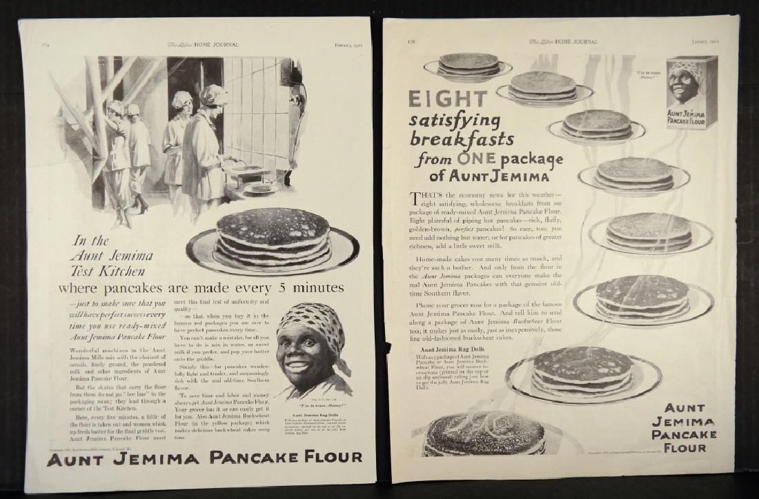 31 Ads/menus: Black Americana. Aunt Jemima, etc. - 3