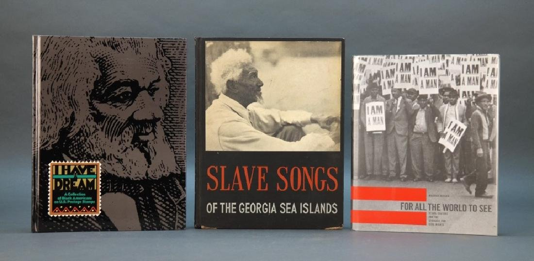 3 Books incl: Parrish. Slave Songs... 1942.