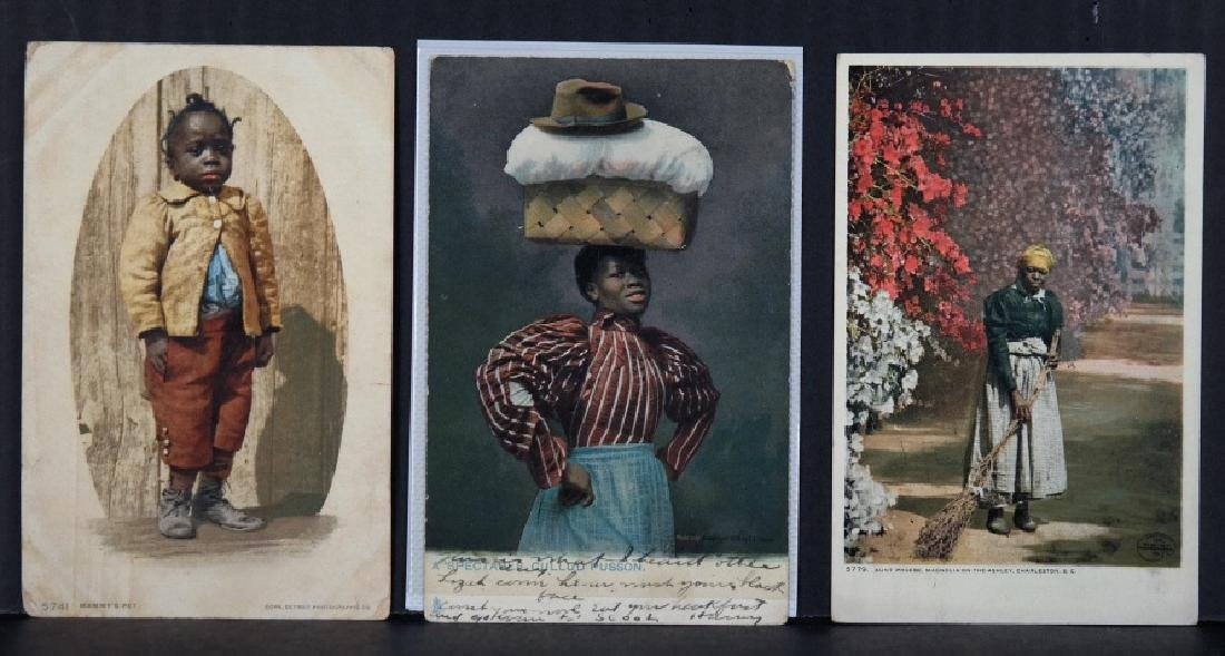 28 postcards and trade cards, 1900s-1940s.