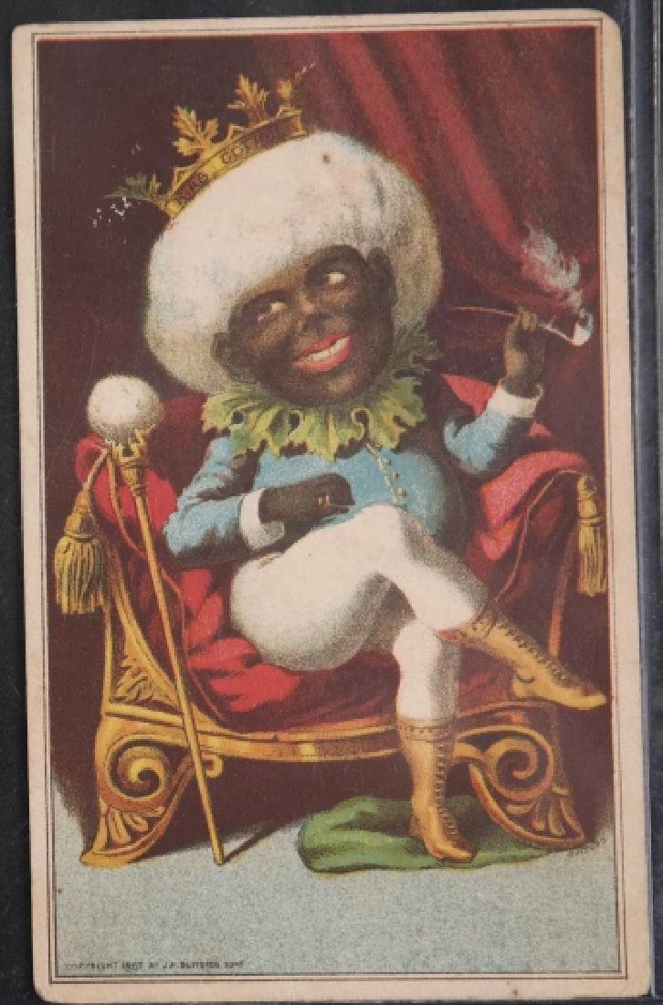 Group of 16 Black Americana Trade cards.