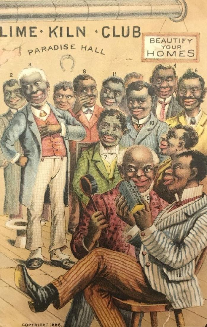 Group of 17 Black Americana trade cards.