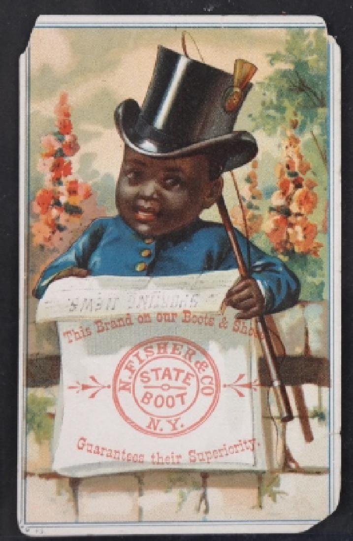 Group of 18 Black Americana trade cards.