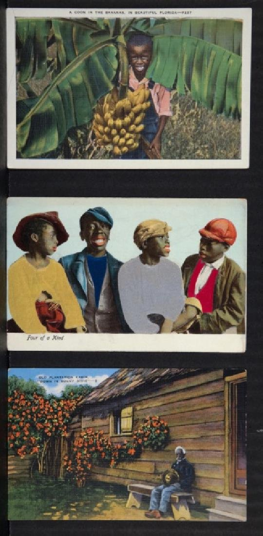 Group of 36 Black Americana postcards