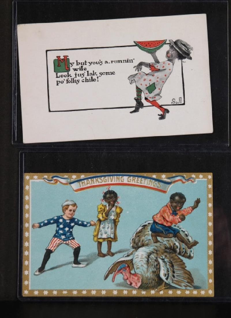 Group of 17 Black Americana greeting cards