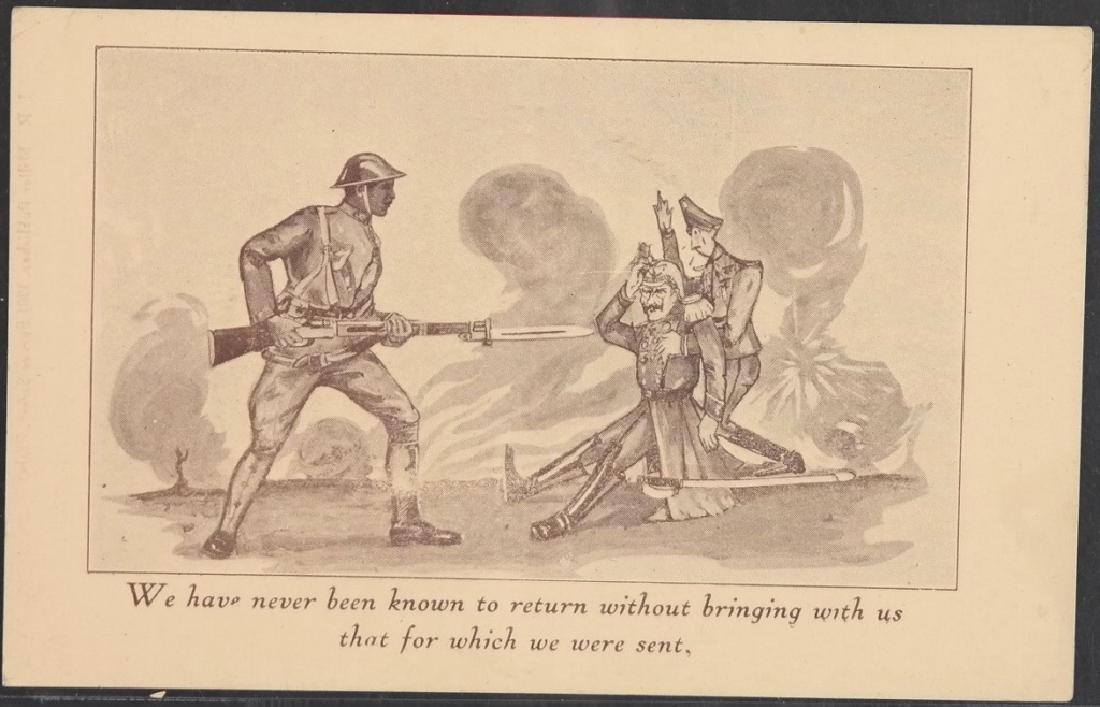 5 Black Americana World War I postcards.