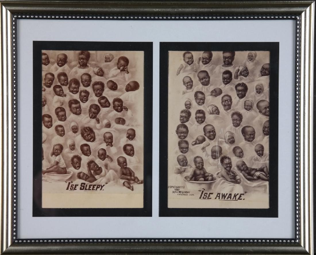 4 trade cards + 2 cabinet cards: Black Americana. - 2