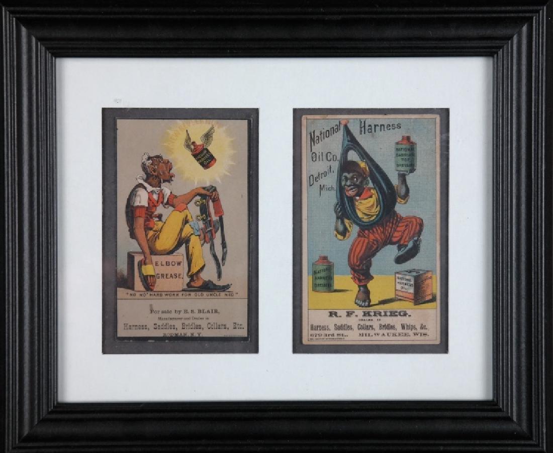 4 trade cards + 2 cabinet cards: Black Americana. - 3