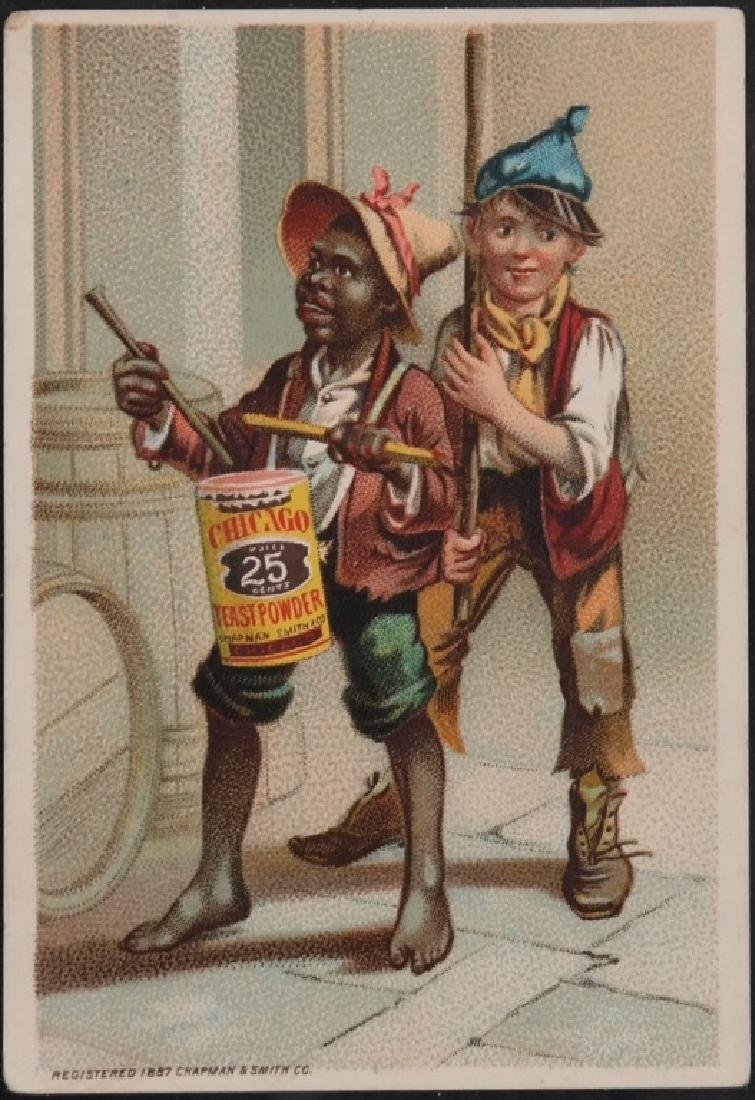 Group of 10 Black Americana trade cards.