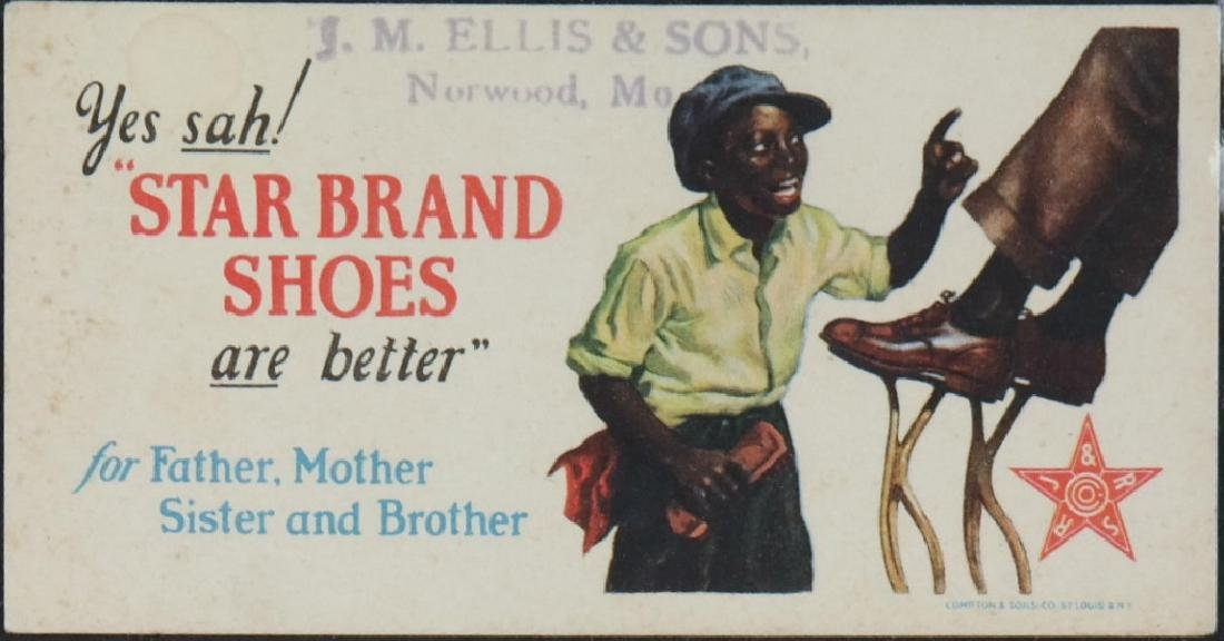 17 Black Americana trade cards/advertisements