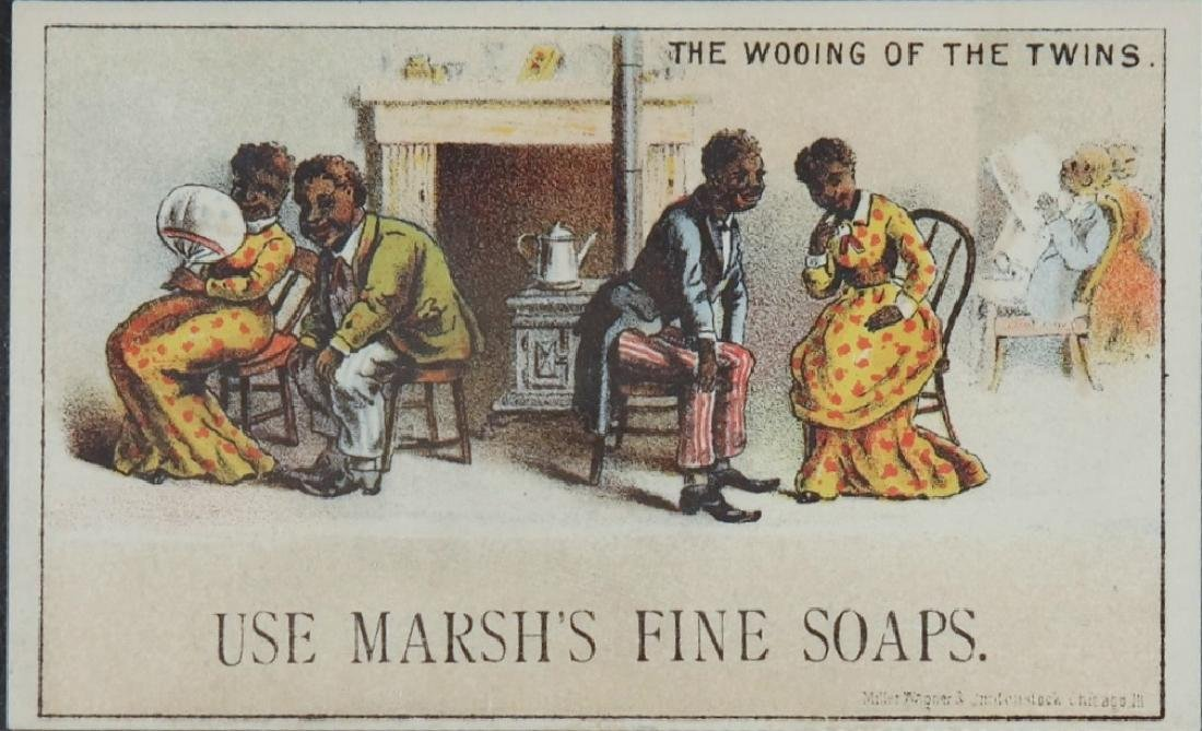 Group of 10 Black Americana trade cards