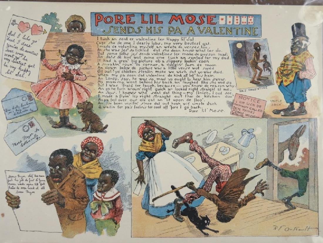 "11 cartoons from ""Pore Lil Mose"" (1902)"