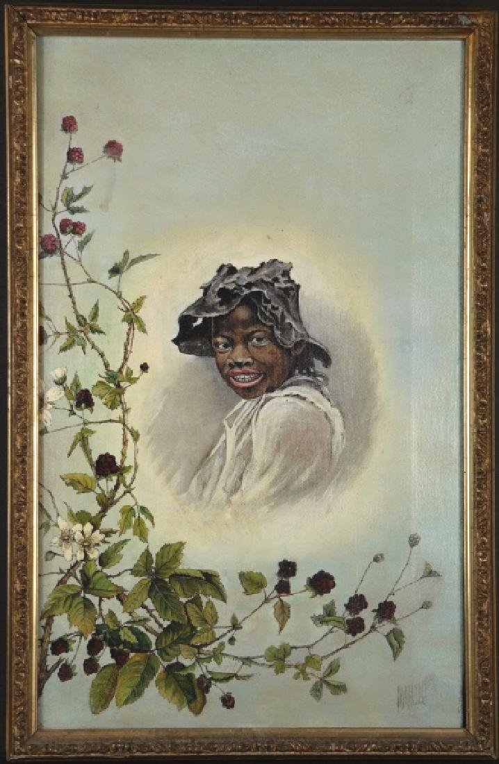 Black Americana 'Johnny Griffin' Painting, 19th c.