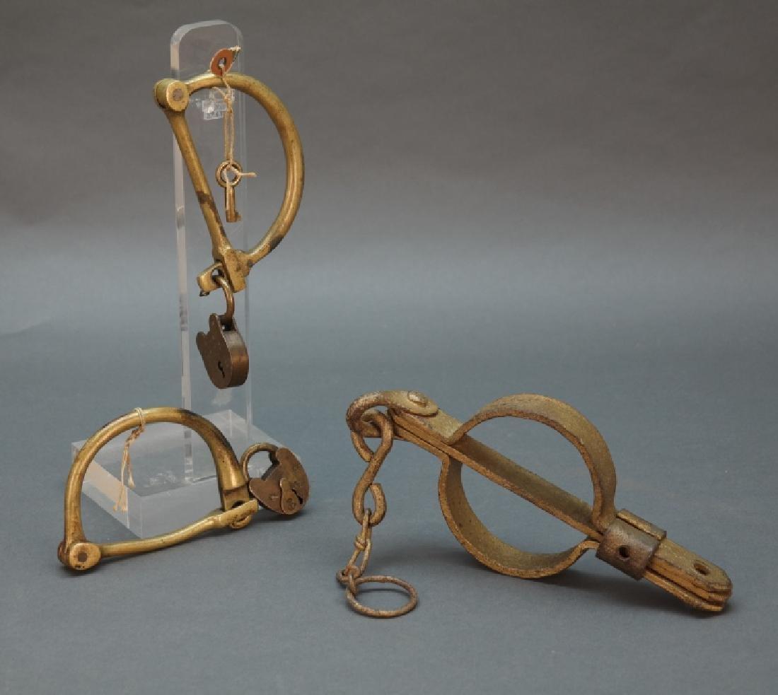 2 sets of slave shackles, c.1857.