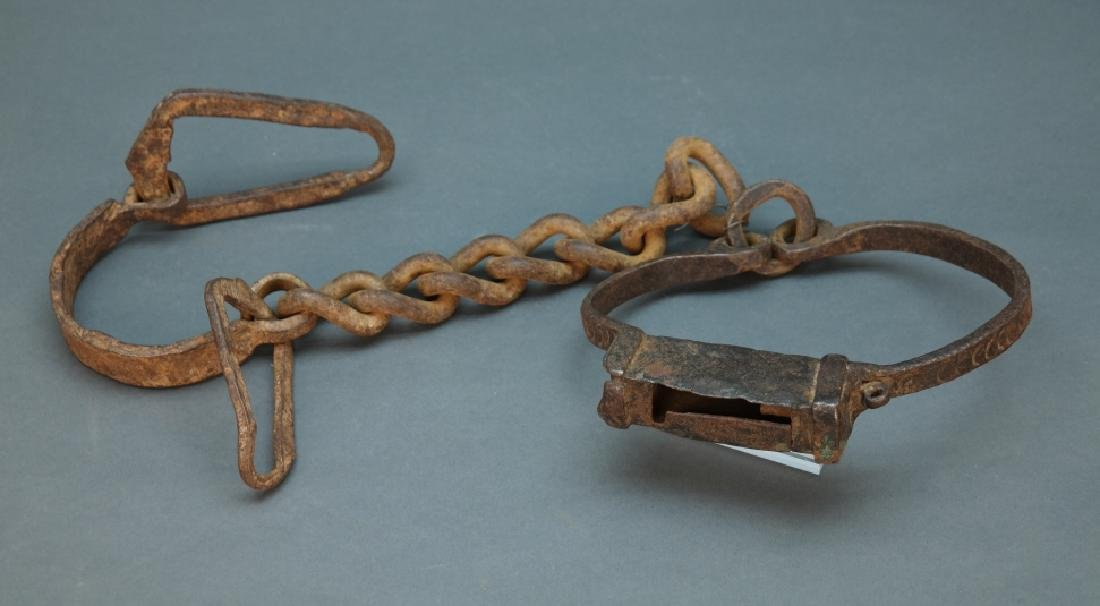 Neck and hand slave shackles