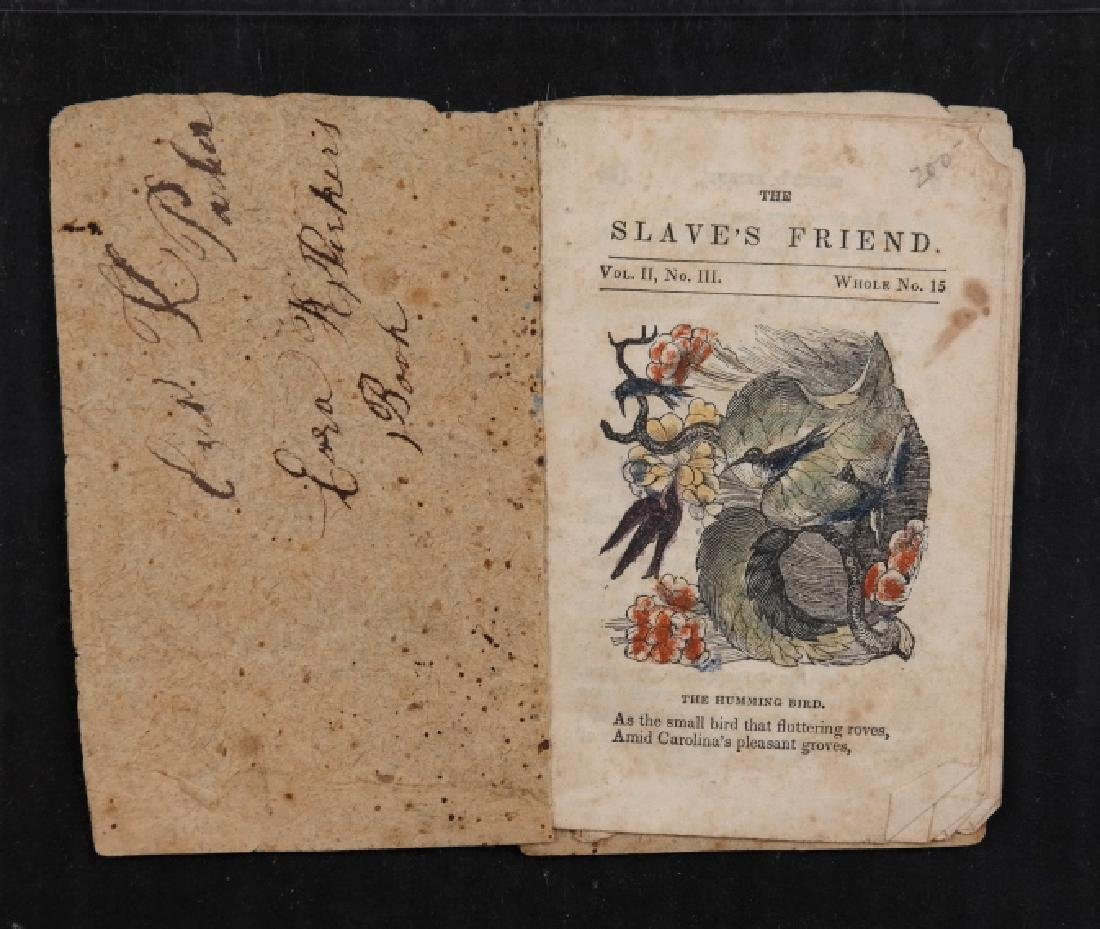 The Slave's Friend. Abolitionist chapbook.