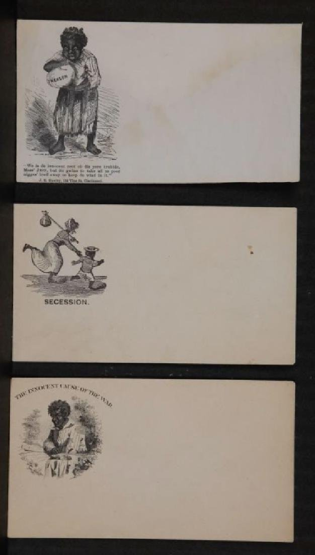 9 Civil War abolitionist postal covers.