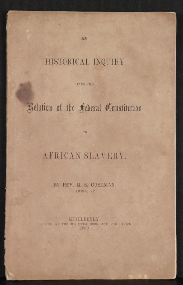2 pamphlets: Slavery, 1860 + soldiers, 1863. - 2