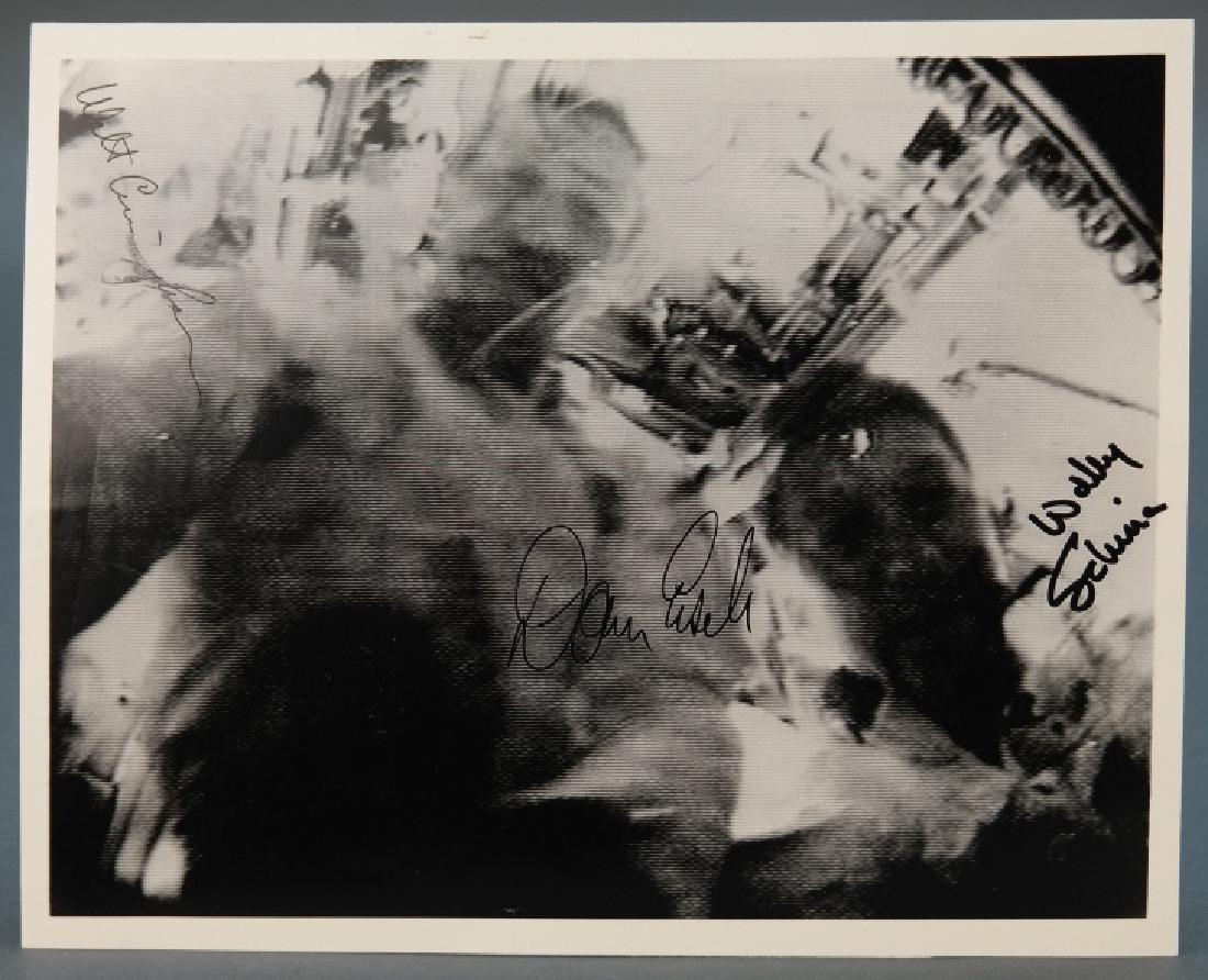 Signed by 3 astronauts, Apollo VII, incl Schirra.