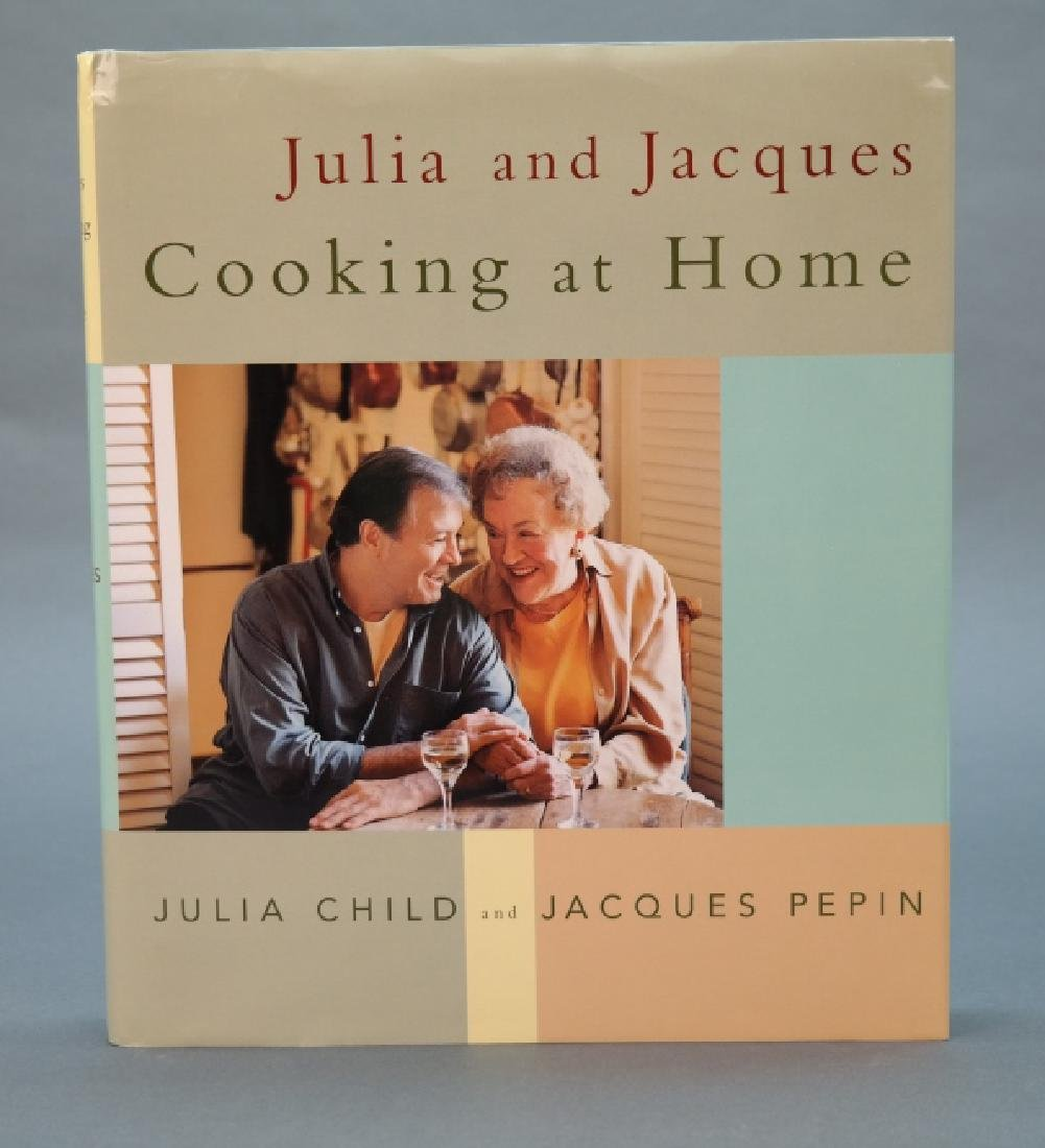 2 books signed by Julia Child.