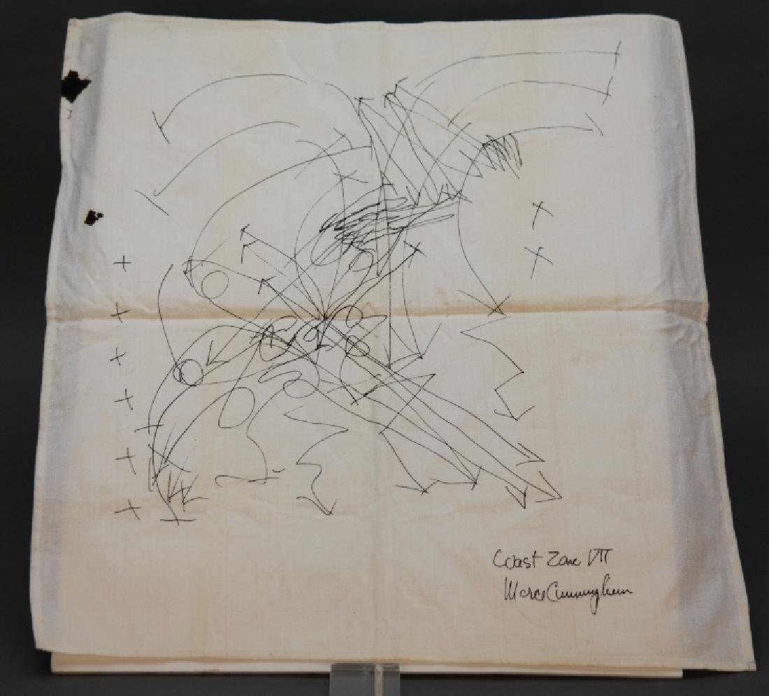 Diagram signed by Merce Cunningham: Coast Zone VII