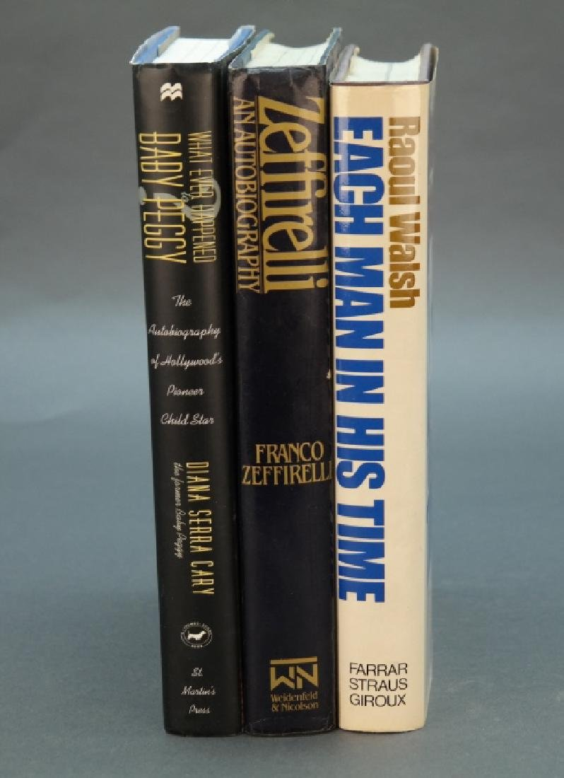 3 signed books: Zeffirelli, Walsh, Baby Peggy.