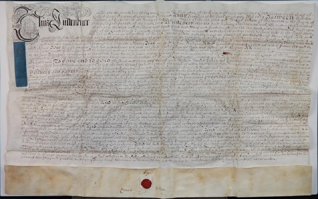 Indenture. Sussex, 1714. Vellum.