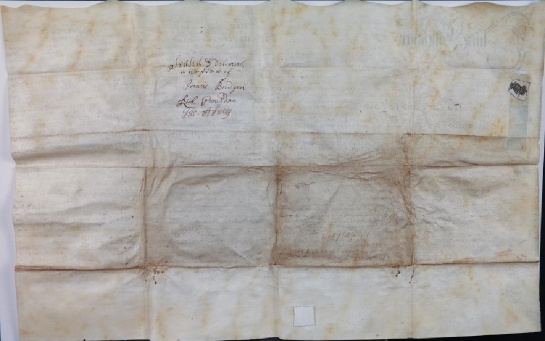 Indenture. Sussex, 1714. Vellum. - 2