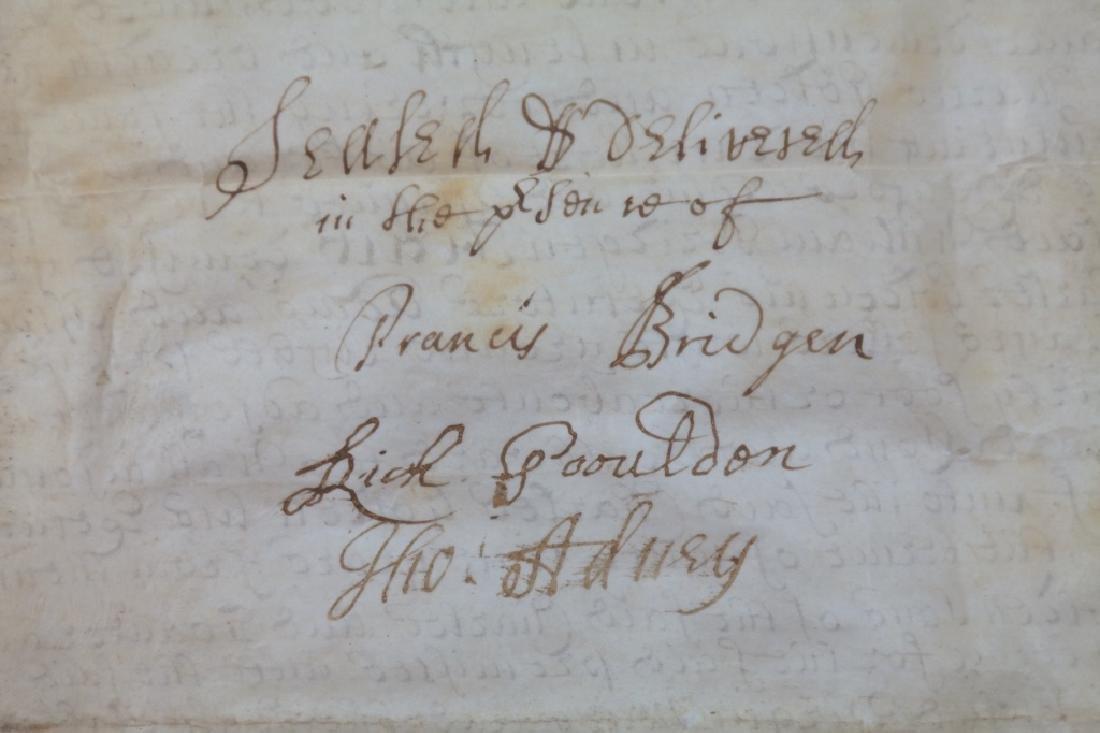Indenture. Sussex, 1714. Vellum. - 3