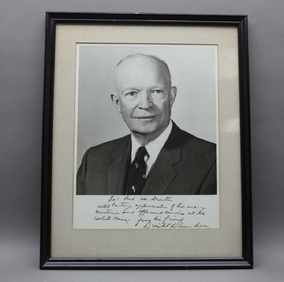 Dwight Eisenhower. Signed, inscribed photograph.