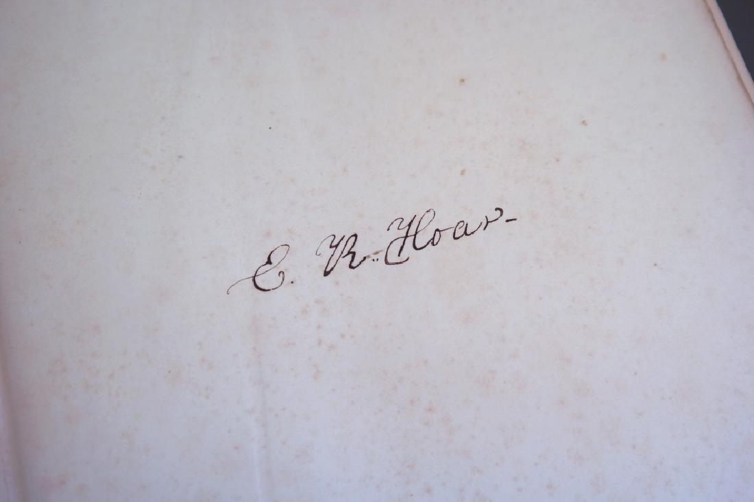3 Vols incl: Agassiz, 2 Vols, signed by E. R. Hoar - 11