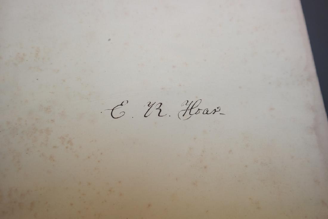 3 Vols incl: Agassiz, 2 Vols, signed by E. R. Hoar - 3