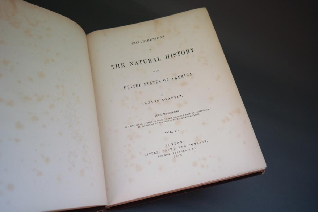3 Vols incl: Agassiz, 2 Vols, signed by E. R. Hoar - 4