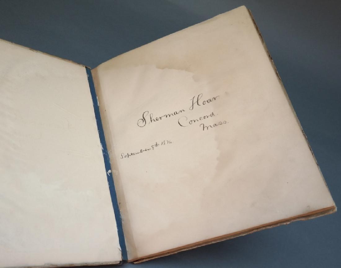 3 Vols incl: Agassiz, 2 Vols, signed by E. R. Hoar - 8
