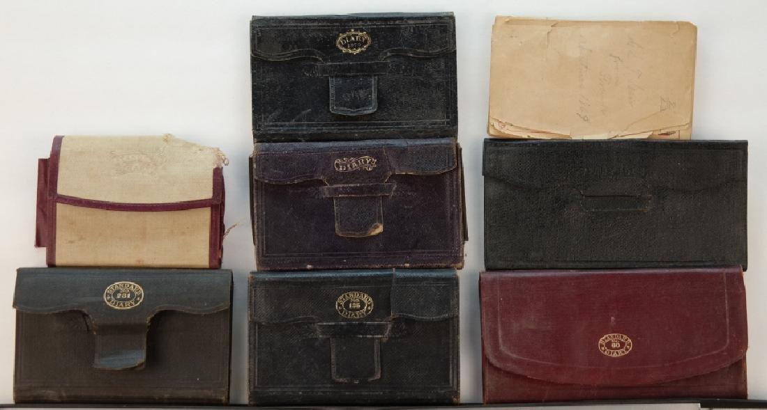 13 Vols: Diaries (1 from 1861 before Civil War).