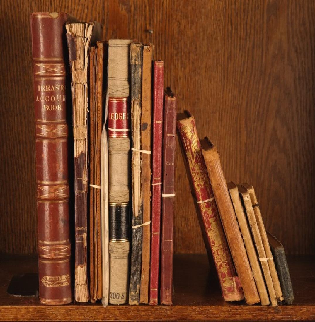 13 Manuscripts (15 Vols): Diaries, ledgers, etc.