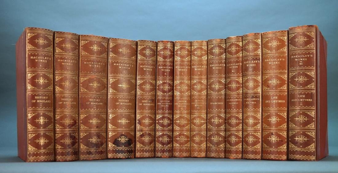 Macaulay. 13 Vols. Red 1/2 leather.