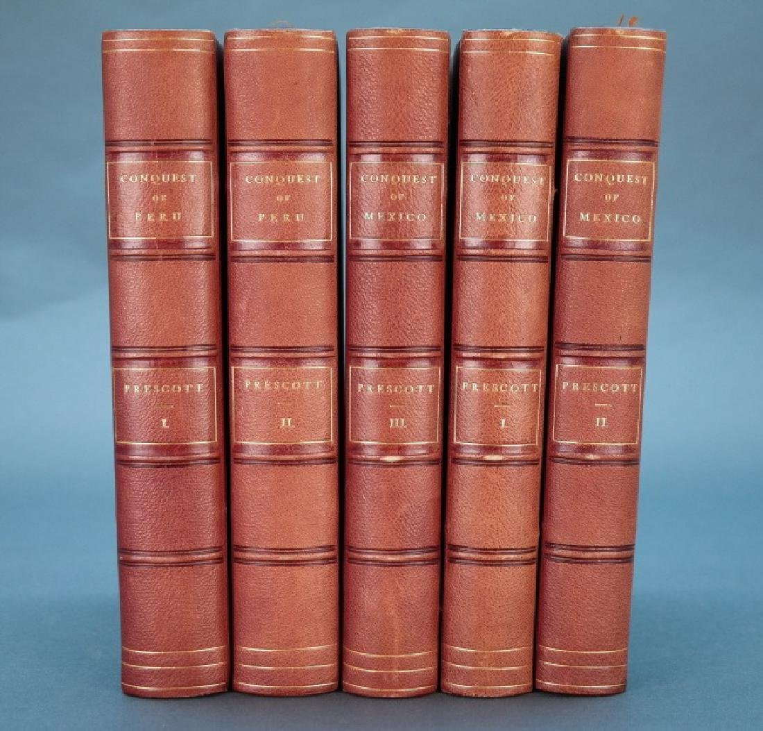 5 Vols: Prescott. History Of The Conquest...