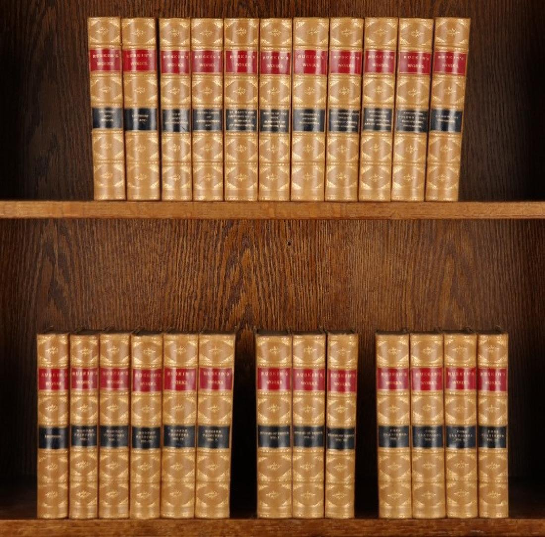 [Ruskin's Works]. 24 Vols. NY: Lovell, (nd).