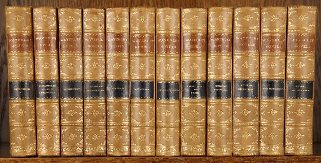 [Waverley Novels]. 24 Vols. Half leather.
