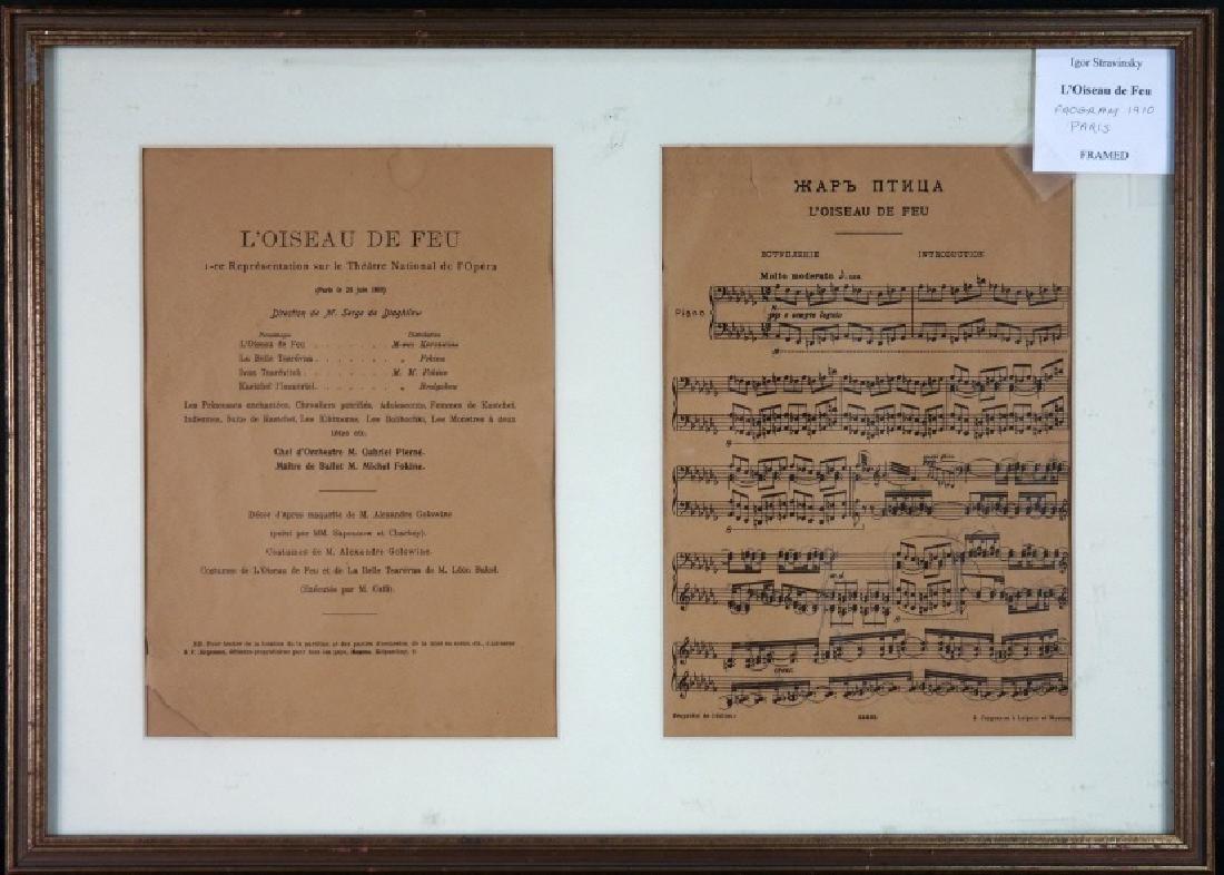 2-leaf program for Stravinsky's Firebird
