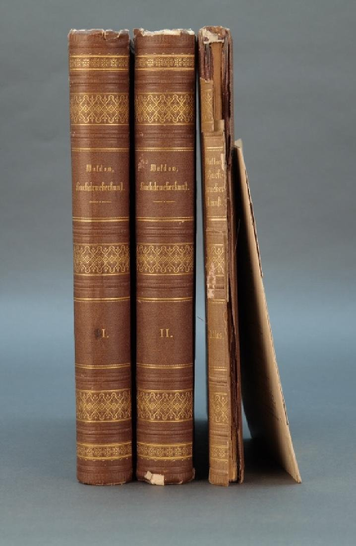 4 Vols incl: Waldow. Die Buchdruckerkunst.
