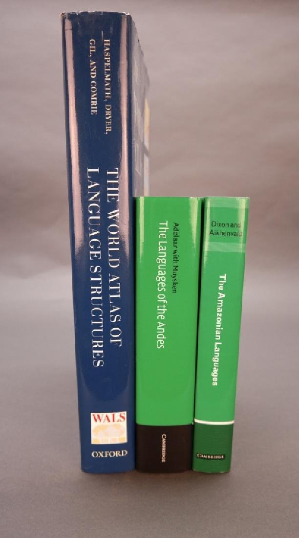 3 Books incl: World Atlas Of Language Structures.