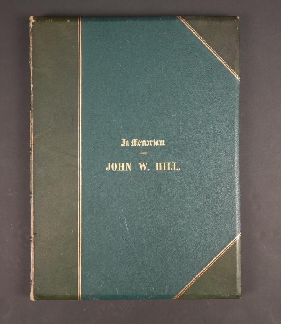John William Hill: An Artist's Memorial. 1888.