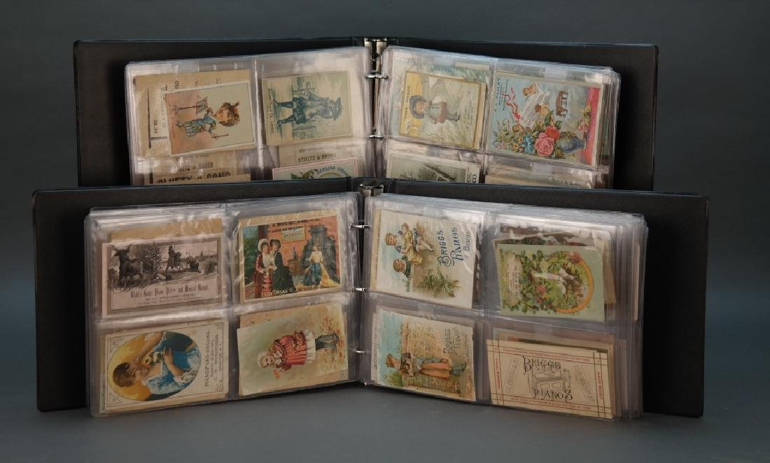 Over 350 items, mostly trade cards: Organs, pianos