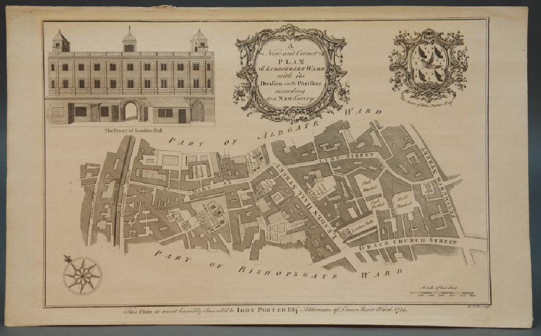 7 maps by Benjamin Cole: London parishes, wards.