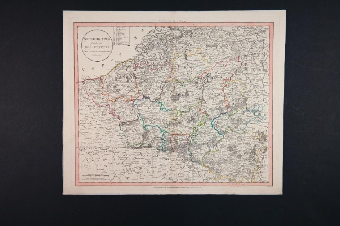 10 engravings, mostly maps: Britain, Europe.