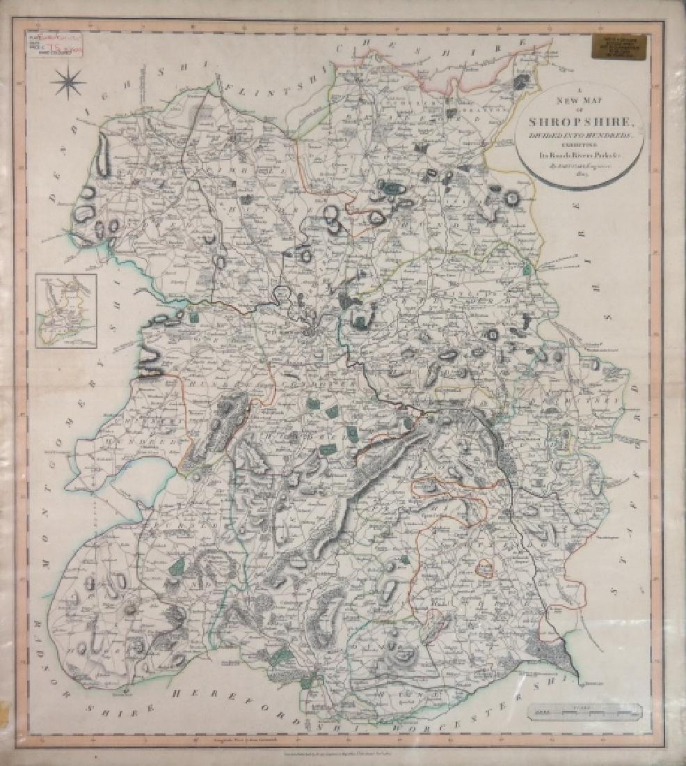11 maps by John Cary, 1801-1808, 1831.