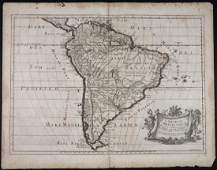 L'America Meridionale. Map by Sanson and de Rossi.